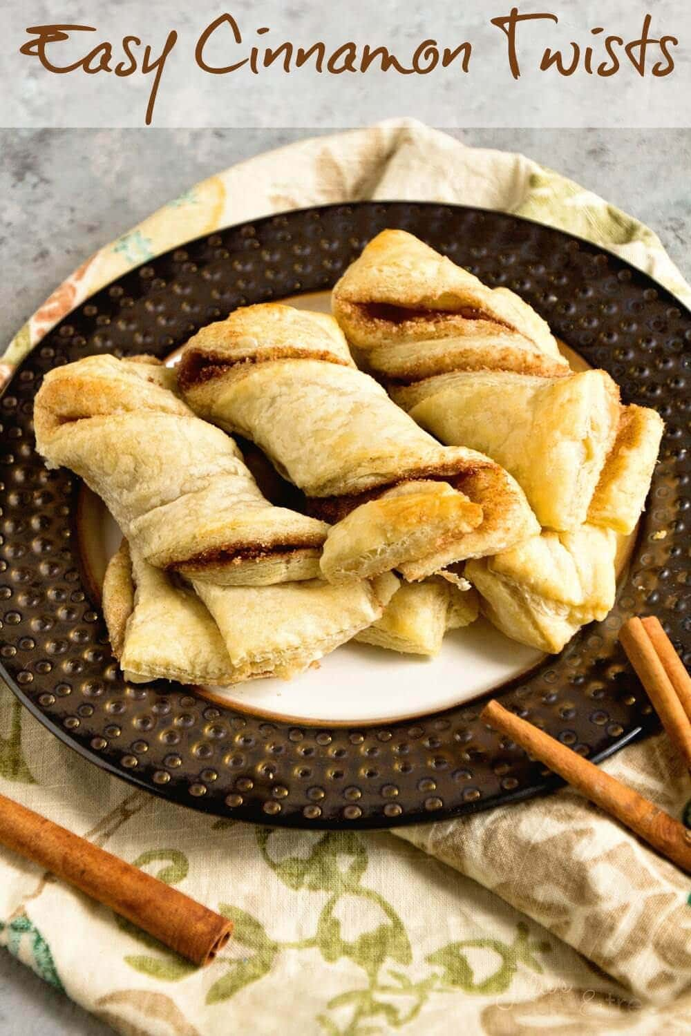 Easy Cinnamon Twists ~ Quick and Easy Breakfast Recipe using only three ingredients!