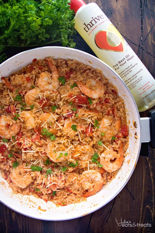 Light Italian Shrimp Amp Rice Skillet Recipe Julie S Eats Amp Treats