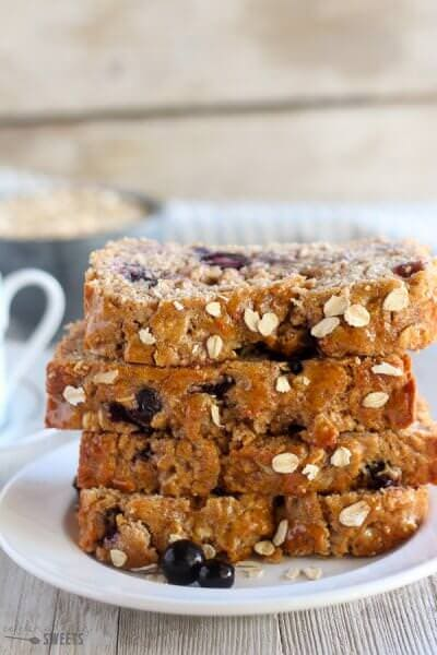 Blueberry Oatmeal Bread from Celebrating Sweets