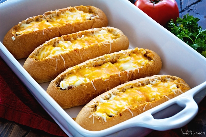 Lasagna Subs are a quick and easy weeknight meal!