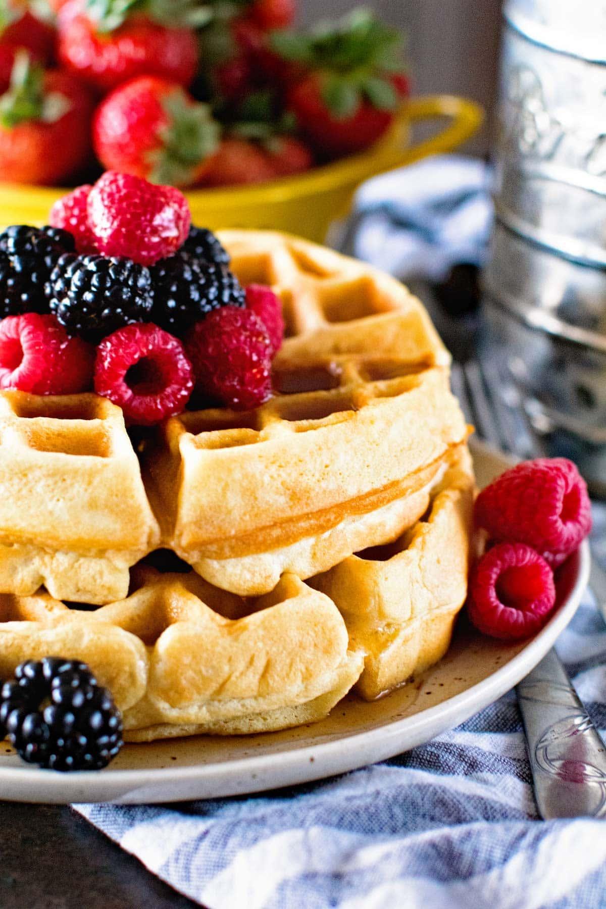 Thick Fluffy Homemade Waffles Julie S Eats Amp Treats