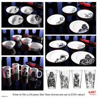 Win a Star Wars Dinnerware Set - Julie's Freebies