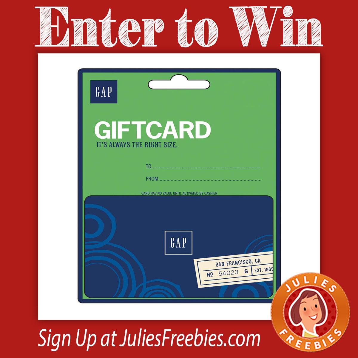 Win a Gap Gift Card - Julie's Freebies