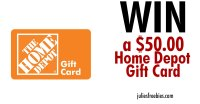 Win a $50 Home Depot Gift Card - Julie's Freebies