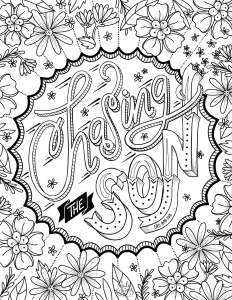 Coloring page, Chasing the Son, girls camp 2018