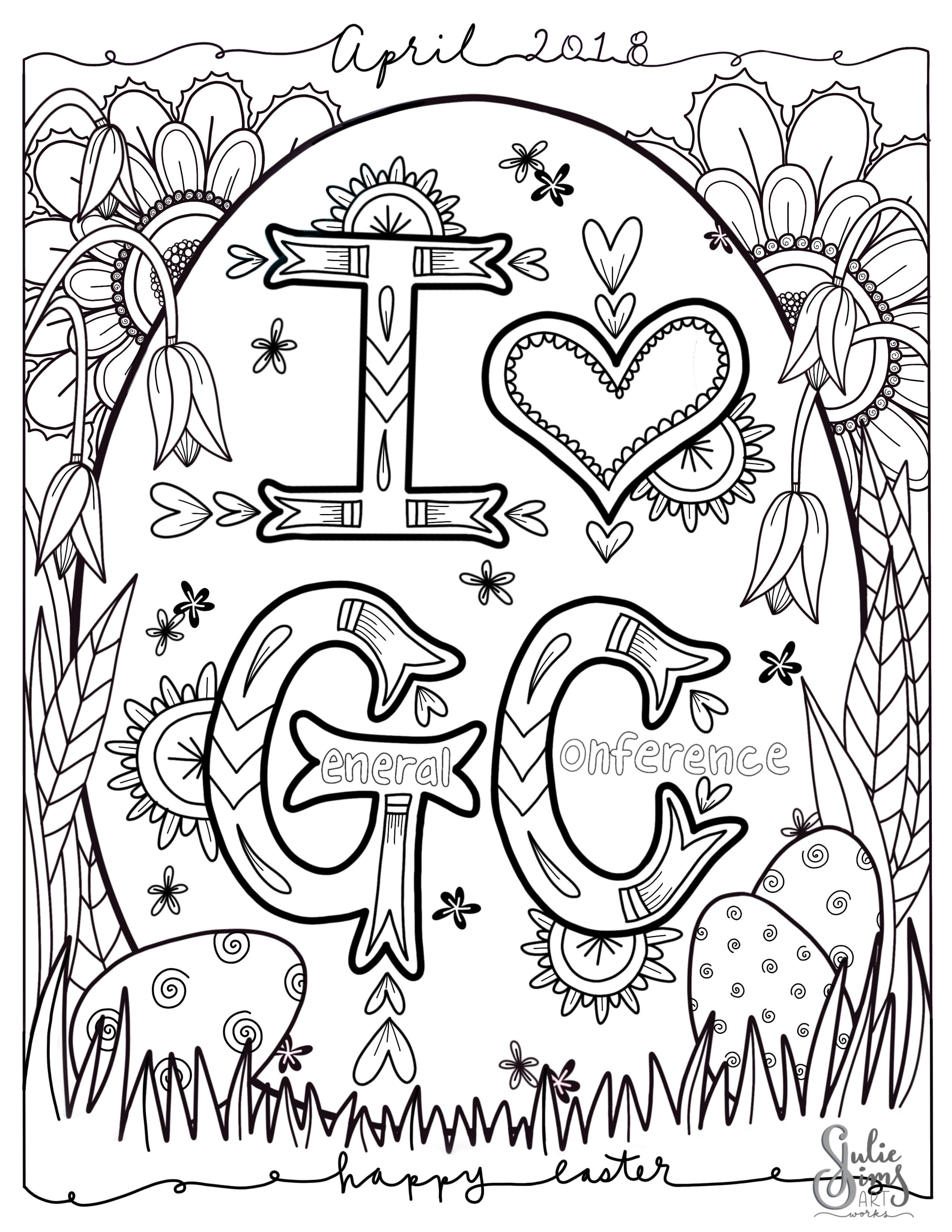 Coloring page, April '18 General Conference