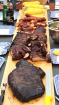 Smoked Brisket, Ribs and Sausage