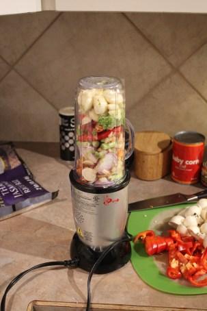Paste Ingredients in Blender