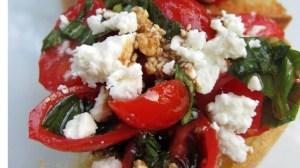 Bruschetta with Feta Cheese & Balsamic Vinegar