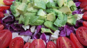 Avocado Tomato Cabbage Salad