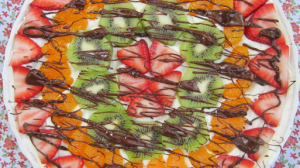 Fruit-Topped Chocolate Chip Pizza