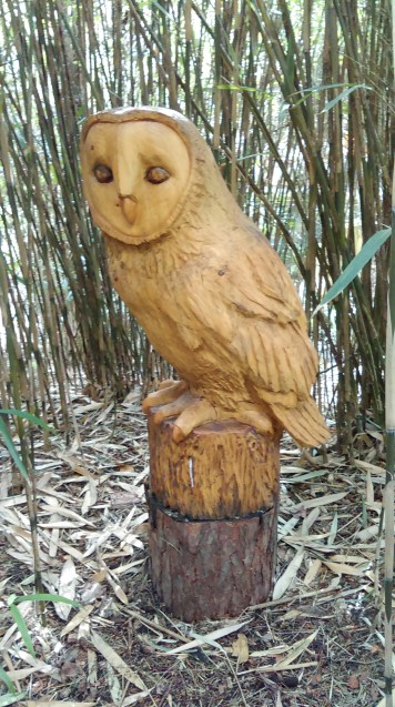 Wooden Owl Sculpture