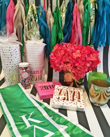 This decor was used to throw a party for the Kappa Delta seniors graduating from Washington State University