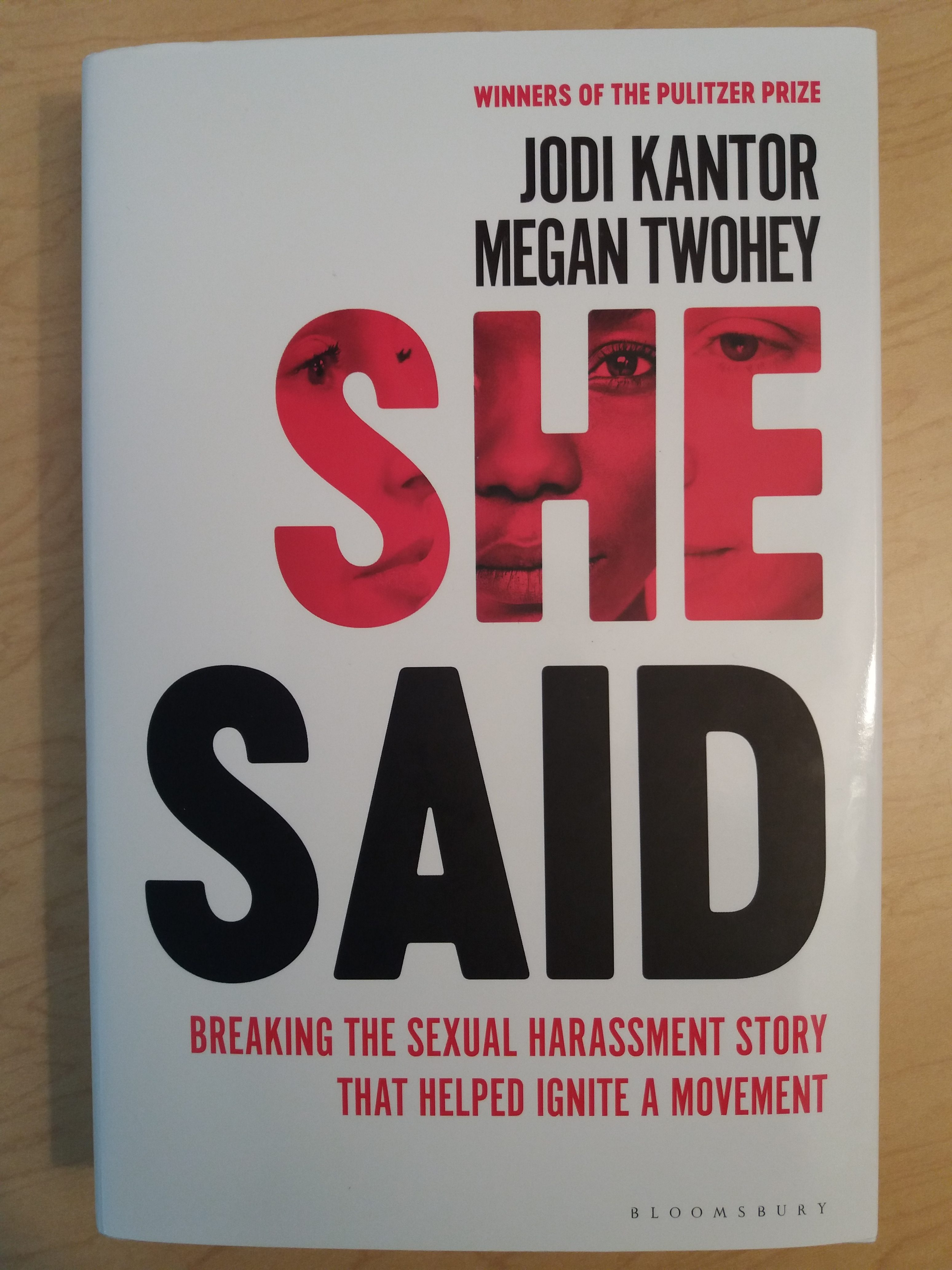 """Picture of the book, """"She Said"""". This post discusses stories of sexual abuse told in public and private."""