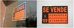 JULIO ADÁN SE VENDE Intervención en escaparates del Vicerrectorado de Alumnos de la UCM. Edición de tres serigrafías (firmadas y numeradas) 35 x 50 cm 2011
