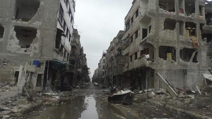 dLa devastada ciudad de Douma