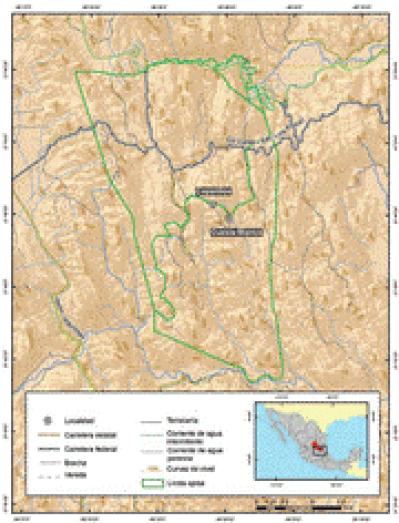 Mapa del ejido Xi'oi de La Palma