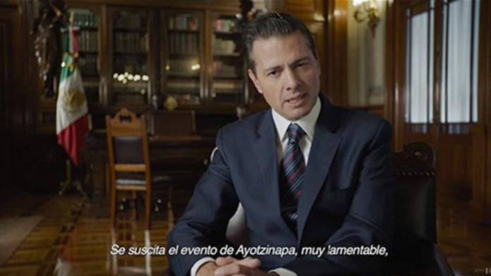 Mensaje de Peña Nieto