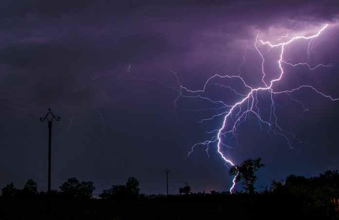lightning unk on green grass field
