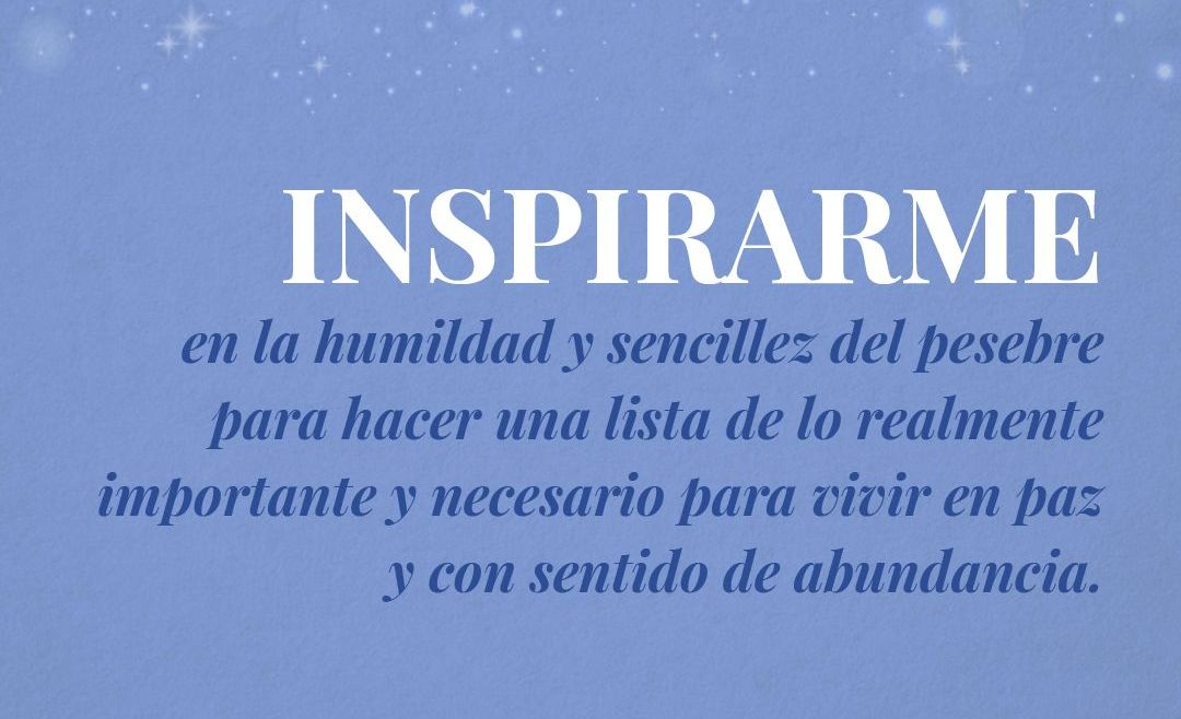 Inspirarme en la humildad