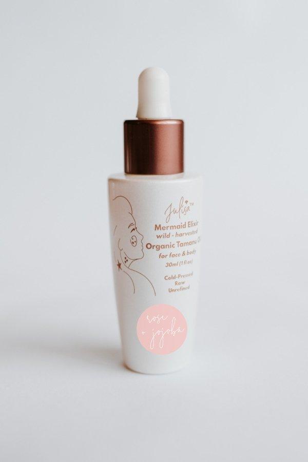 Mermaid Elixir Organic Skin Oil 'Glass Skin' Hydrating Blend | Rose Jojoba Tamanu 30ml