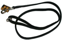 Leather leash 1,5 m (Ø 16 mm) with handle, with O-ring