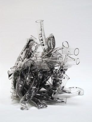 Black Cluster II, 2015, 23 x 38 x 32 cm, glass, glass paint