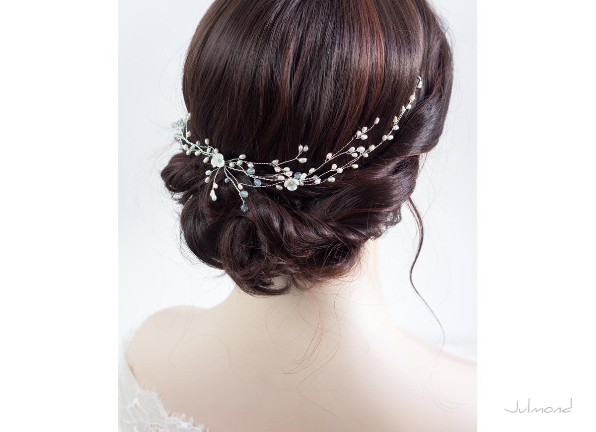 Haarschmuck hochzeit perlen  Modeschmuck