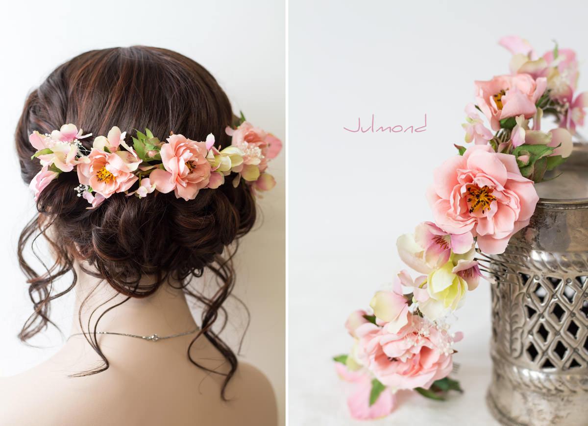 Saphira Haarschmuck Blumen Blumenkranz Braut Hochzeit04