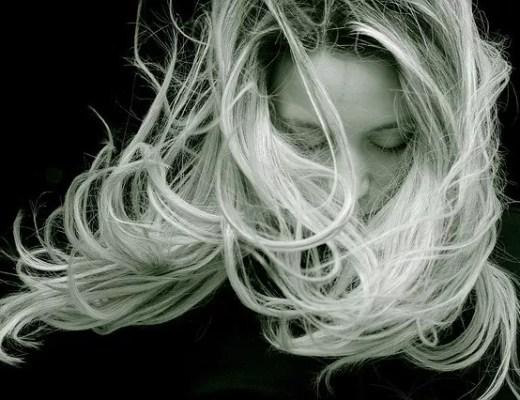 woman, closed eyes, silence