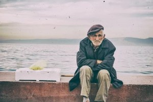 Old man alone