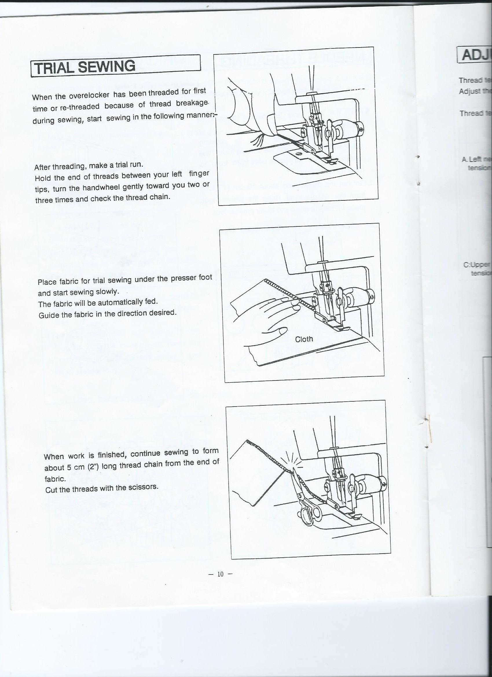 Empisal Overlocker S4D User manual
