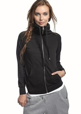 Sort lady-zip-sweat set forfra