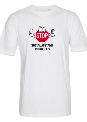 Foto_af_Classic_Subli_T_shirt_hvid_front_stop_social_afstand_redder_liv_st351_03