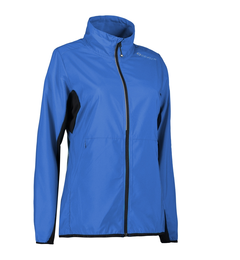 Foto-af-Woman-running-jacket-kongeblå-front1-G11012