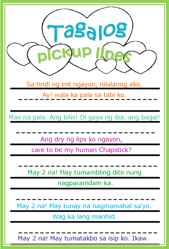 Pinoy Pick Up Lines : pinoy, lines, Cheesy, Pinoy, Pickup, Lines, Jumbled, Coffee, Thoughts
