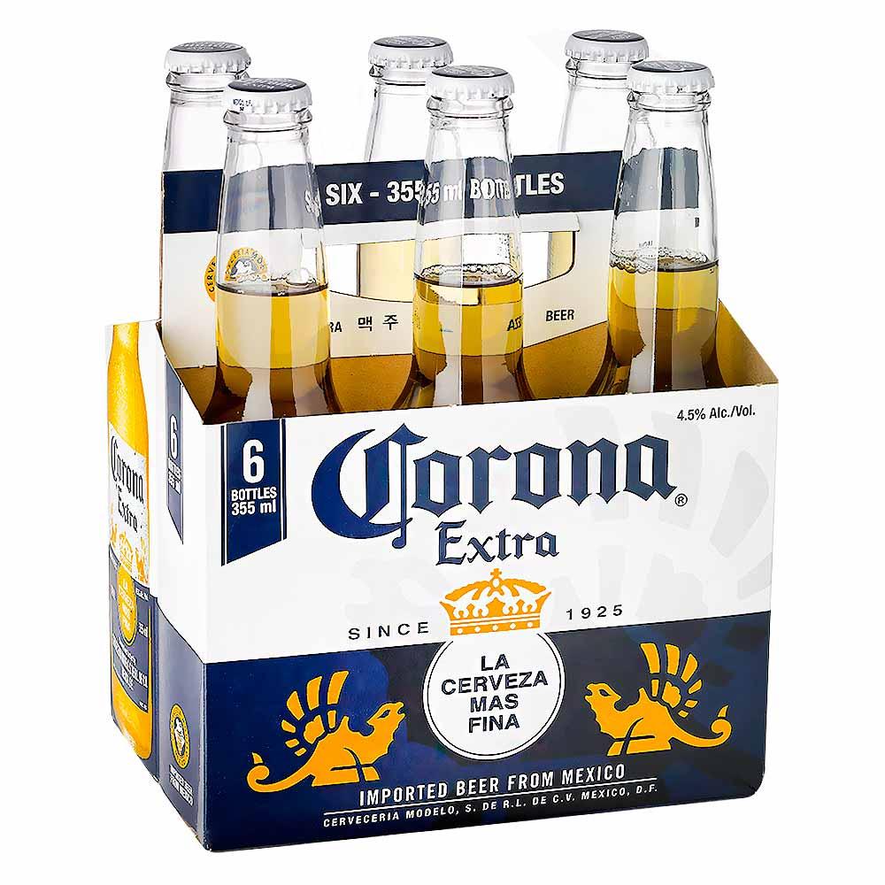 cerveza corona sixpack x