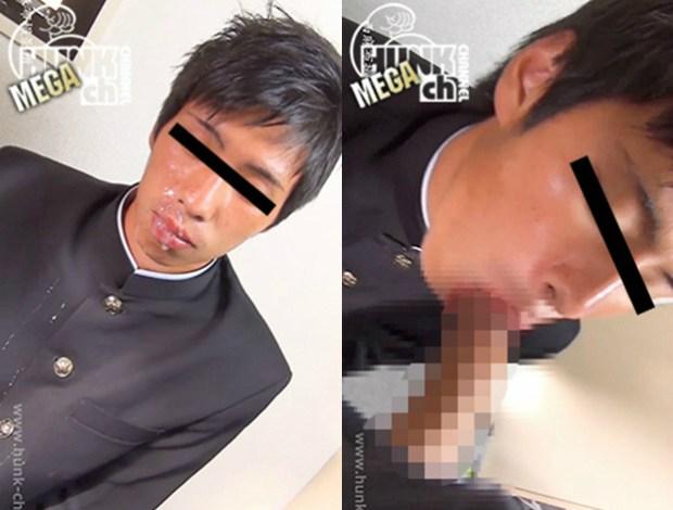 HUNK CHANNEL – NS-045 – 172cm60kg20歳学ランコスプレ姿フェラ奉仕!!