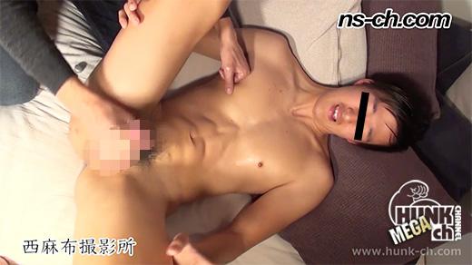 HUNK CHANNEL – NS-311 – ノンケ男子大学生マラ喰い!!アナル丸見えの恥ずかしい格好で射精!!