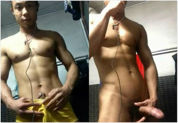 Chinese maleshow – Amateurs Contribution – Kick-boxer Jerk-Off 素人投稿 – 搏击选手自慰撮り
