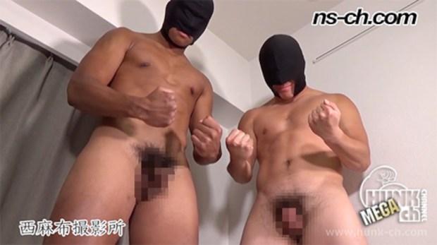HUNK CHANNEL – NS-775 – 超AAA級筋肉男子Wフェラ(190cm99kg19歳・170cm75kg19歳)