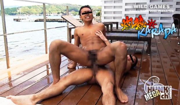 HUNK CHANNEL – SYK1004 – 灼熱のKARADA、遼真(りょうま)と哲矢(てつや)!!!濡れたKARADAが熱く交わりプールサイドは激烈淫猥交尾の秘境になる!!!