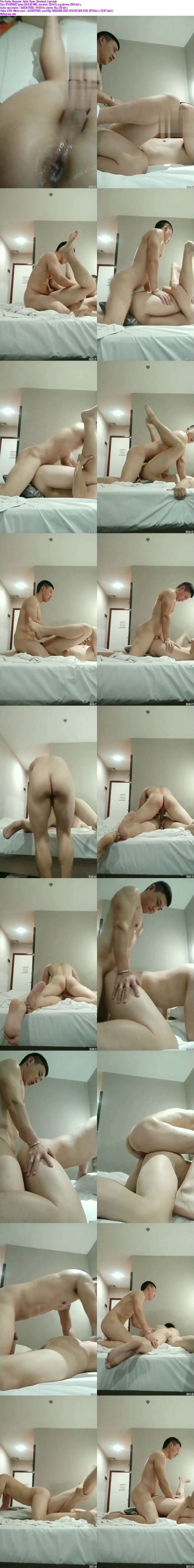 Chinese maleshow – Amateur Contribution – Hunky Muscular Hotel Room 肌肉大屌爷酒店无套操大屁股小帅