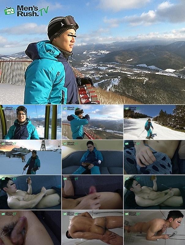 Men's Rush.TV – MR-ON1088 – YUKIYAと一緒に雪山へGO!スキーの後はオナニーでドピュッ!