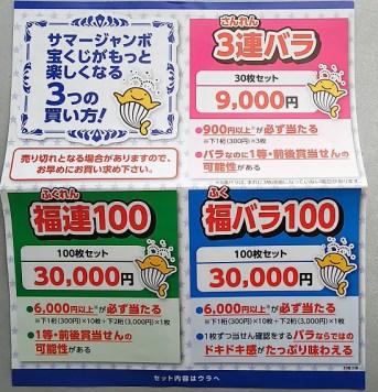 宝くじの買い方 3連バラ