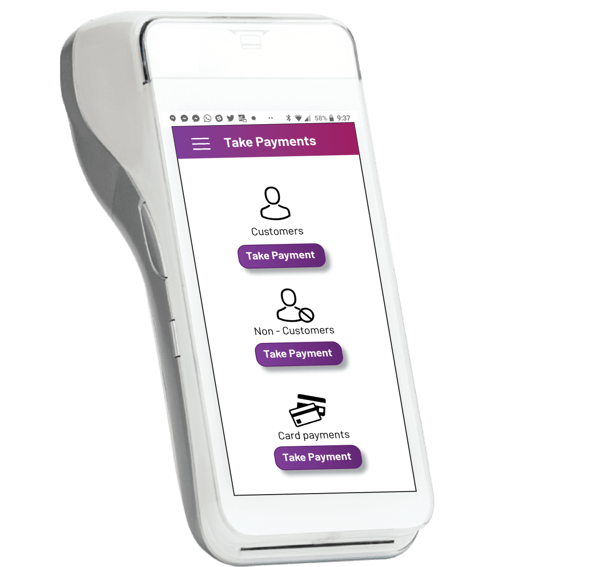 Mobile POS system to collect payments Jumeni