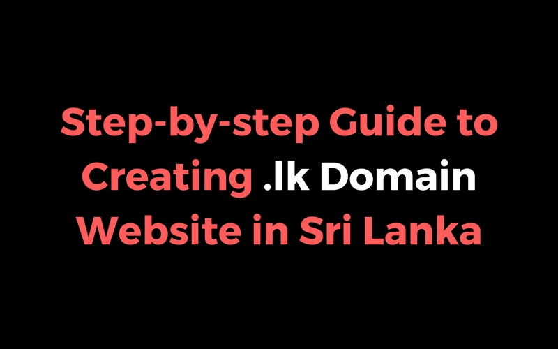 how to create a website in sri lanka