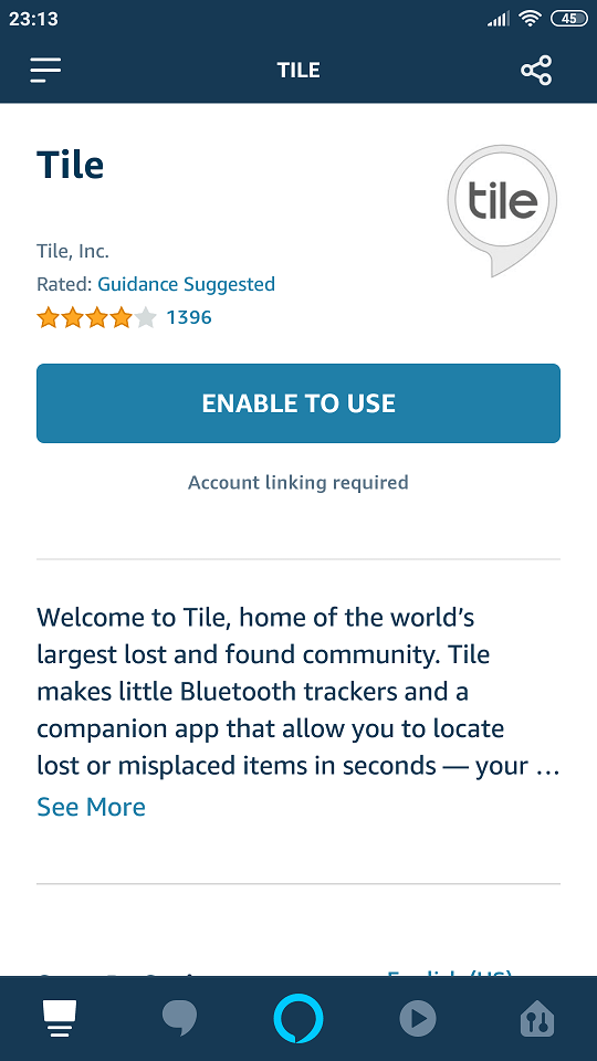 how to link tile to alexa