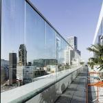 Blick von der Terrasse des NENI auf die Kaiser-Wilhelm-Gedächtniskirche