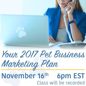 2017 Marketing Plan For Your Pet Business